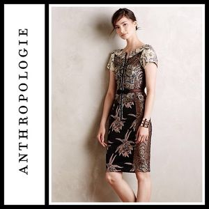 Anthropologie Pieced Brocade Dress by Byron Lars